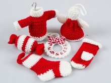 Amigurumi Crochet Pattern Amigurumi Crochet Patterns Free Crochet Christmas Ornaments Crochet Wreath Sweater Angel Stocking Mitten P027