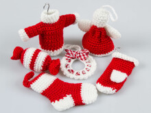 Amigurumi Dolls Christmas Ornaments Wreath Sweater Angel Stocking Mitten Crochet Pattern