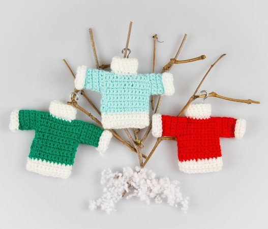 Amigurumi Dolls Christmas Ornaments Wreath Sweater Angel Stocking