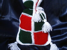 Christmas gift bag patchwork knit/crochet pattern 005