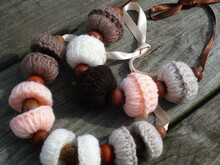 Large beads/beaded boho necklace crochet pattern 066