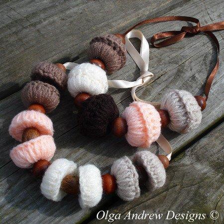 Large Beadsbeaded Boho Necklace Crochet Pattern 066