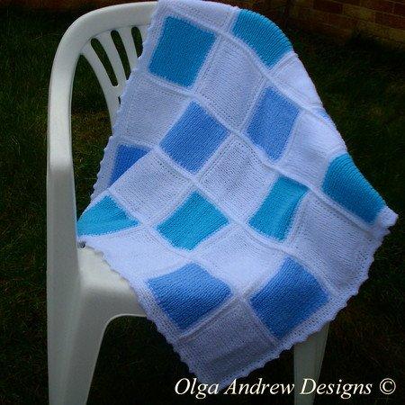 Patchwork Baby Blanket Knitcrochet Pattern 042