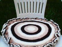 Chair seat cushion crochet pattern 044