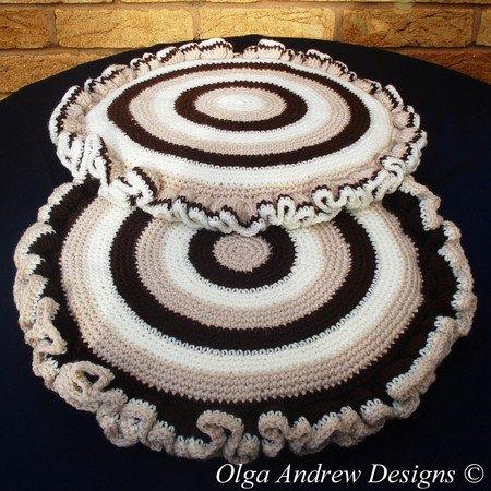 Chair Seat Cushion Crochet Pattern 044