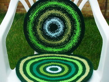 Chair seat cushion/pad crochet pattern 052