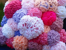 Coral reef cushion knit/crochet pattern 035