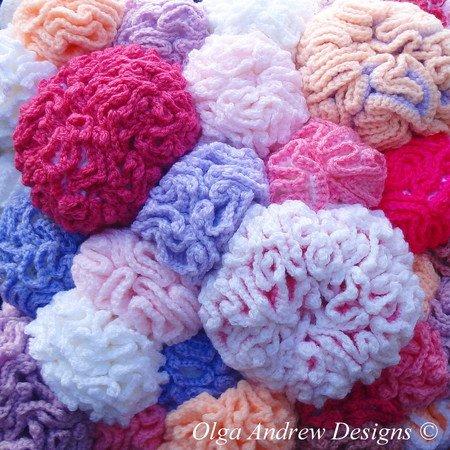 Coral Reef Cushion Knitcrochet Pattern 035
