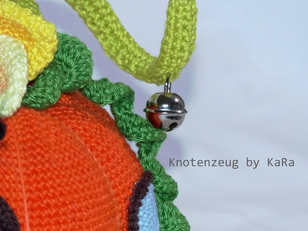 Door stopper fairies cottage pumpkin, crochet pattern
