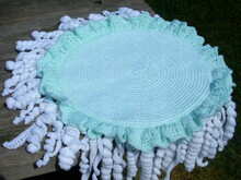 Jellyfish chair seat cushion crochet pattern 055