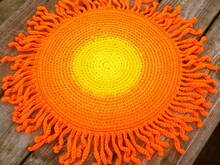 The Sun rug/chair seat cushion crochet pattern 056