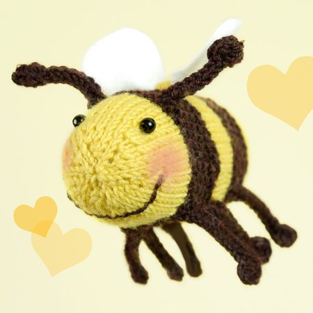 "Bumble Bee Brummel ""The Stash Gobblers #02"", knitting pattern"
