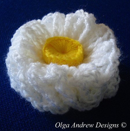 Air ruffle flower crochet pattern 023