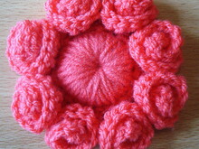 Eight petal flower crochet pattern 060