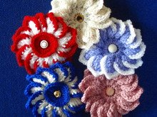 Flower Dahlia crochet pattern 020