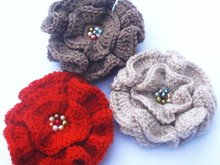Ruffle flower crochet pattern 004