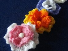 Wavy flower crochet pattern 019