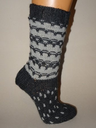 strickanleitung fr socken im fadenmuster fr gr 3839 - Muster Fur Socken