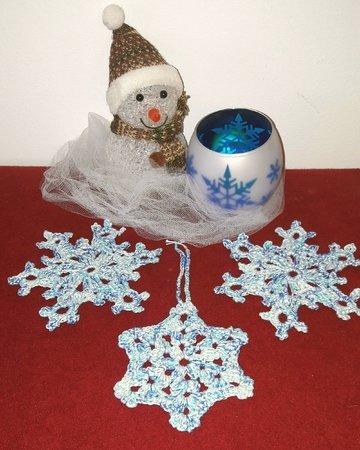Weihnachtsstern häkeln // Schneeflocke häkeln