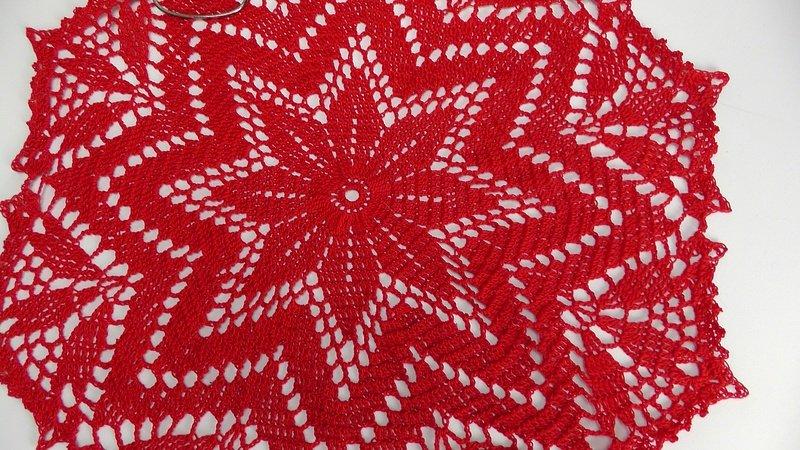 Deckchen Häkeln Sternförmig Leicht