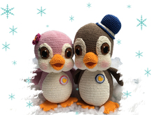 Pinguin Sally and Buck Pattern Amigurumi