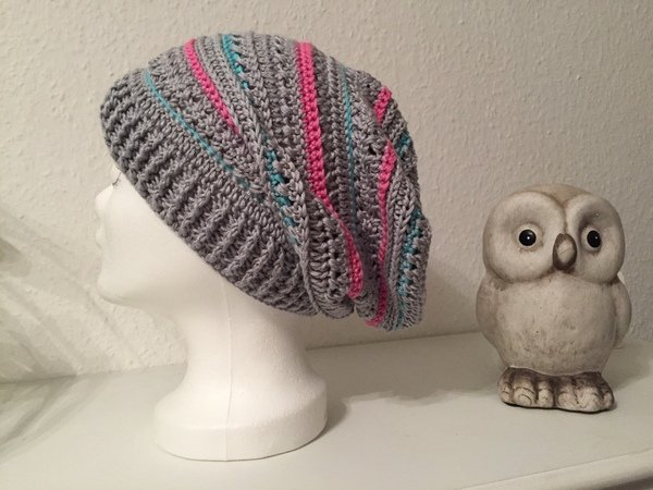 Beanie häkeln / slouchy Beanie-Mütze