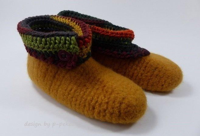 Schuhe häkeln und filzen / Gr. 20-47