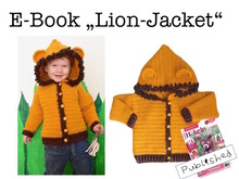 "E-Book ""Lion-Jacket"" size newborn up to age 8 years"