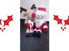 Double-Package Pattern - Santa Claus and Rudolf Reindeer