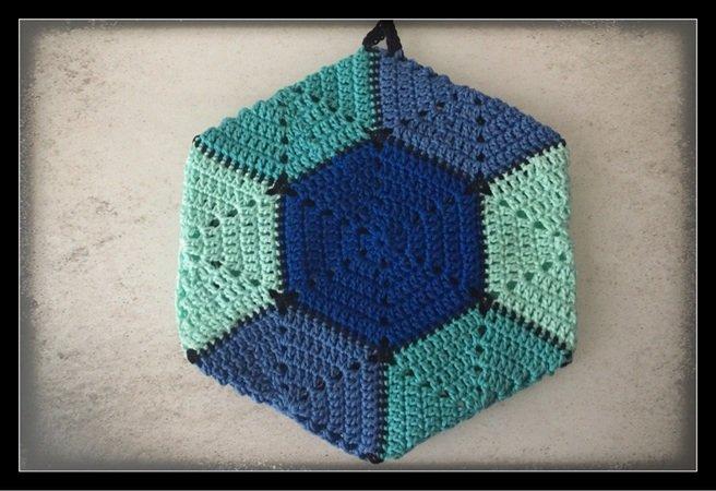 Topflappen Häkeln Hexagon Sechseck