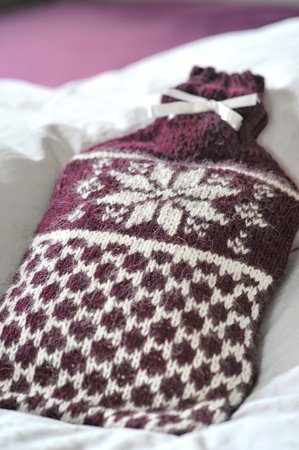 Fair-Isle hot water bottle cozy