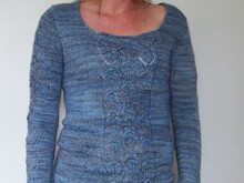 "Strickanleitung Pullover ""Lovely Leaves"""