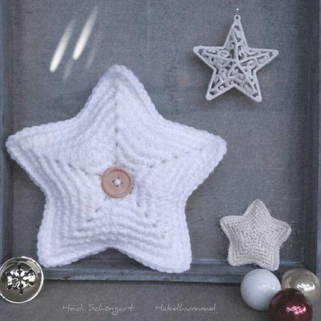 Stern häkeln / Weihnachtsstern / Kissen