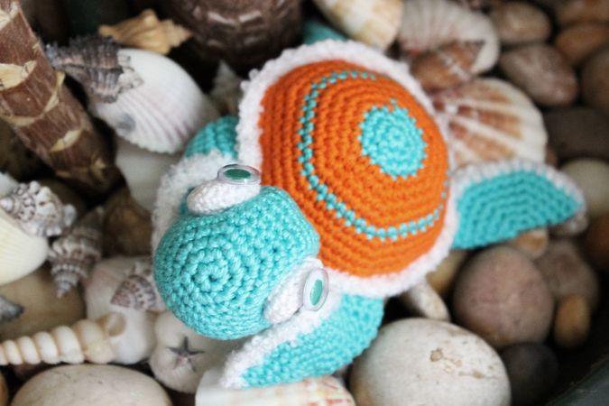 Kostenlose Häkelanleitung. Schildkröte