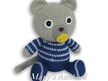 Joe Kitty the Ami - Amigurumi crochet pattern - Digital Download