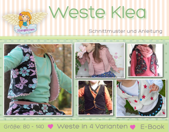 E-Book/Schnittmuster Weste Klea Gr. 80 - 140