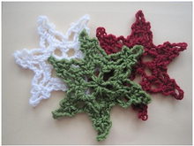 Crochet 7 patterns Snowflakes