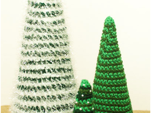 3 size Cone Christmas Tree Crochet Patterns