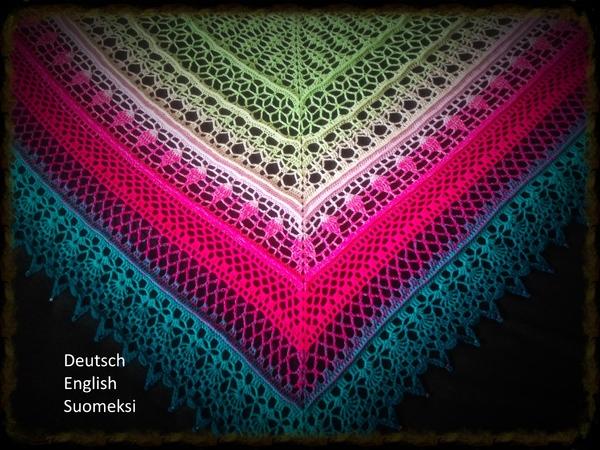 Gratis Dreieckstuch Mit Farbverlauf Häkeln