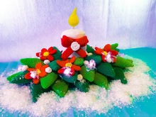 Crochet Pattern Table Decorationg - Christmas Arrangement - English