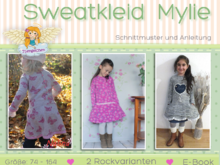 E-Book Sweatkleid Mylie Gr. 74 - 164