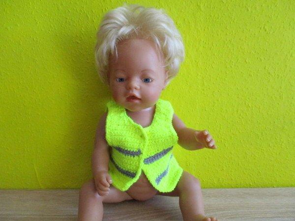 Sicherheitsweste Für Babypuppen Und Andere Puppen Gehäkelt