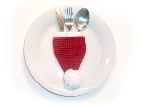 Santa Cutlery Holder For Christmas Table Decoration