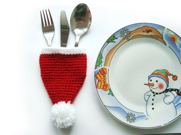Santa Besteckhalter für Weihnachten Tischdekoration