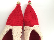 Christmas Crochet Adult Elf Shoes Pattern PDF, 4 sizes for US/Canada, Euro and UK