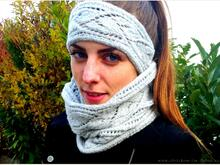 Strickanleitung für Stirnband und Loop in Lace | Stirnband#Loop#Duo SilverLeaves