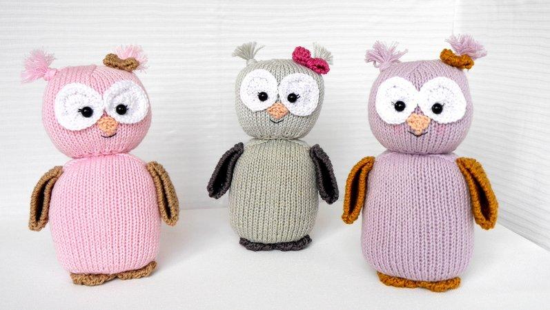Knitting Pattern Owl Emily Euli