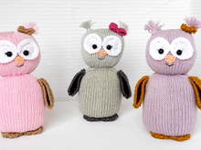 "Knitting Pattern - Owl ""Emily Euli"" - No.A1"