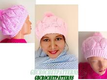 Aubrey Crochet Hat Knit Look