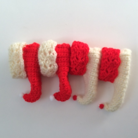 Christmas Crochet Elf Baby Shoes Booties Pattern PDF, 2 sizes 0-6 mths & 6-12 mths